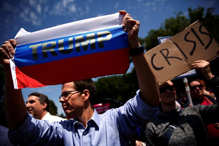 Акция протеста против президента США Дональда Трампа в Вашингтоне