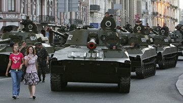 Репетиция парада в честь Дня Независимости Украины