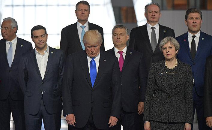 Лидеры стран НАТО в штаб-квартире НАТО в Брюсселе