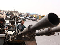 Боевики на пикапе, недалеко от Триполи, Ливия