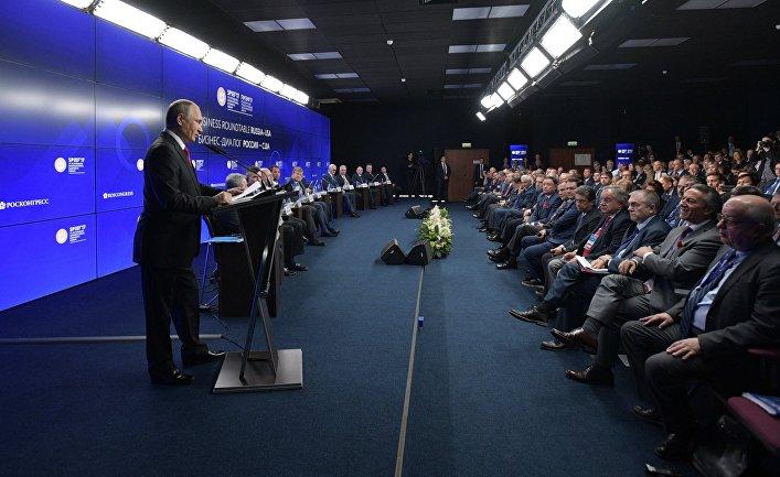 Президент РФ Владимир Путин на ПМЭФ