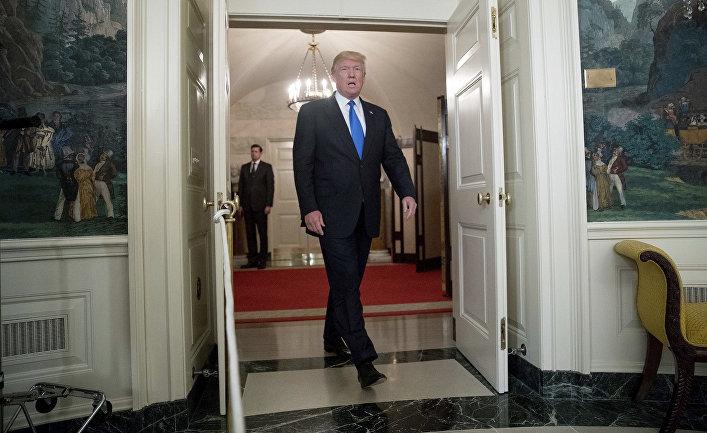 Президент США Дональд Трамп в Белом доме, Вашингтон