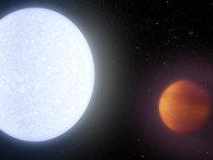 Планета KELT-9b раскалена до температуры в 4600 градусов Кельвина