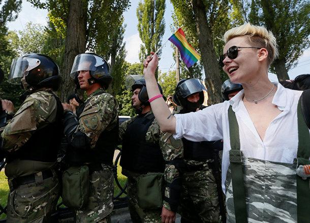 Участник «марша равенства» в Киеве