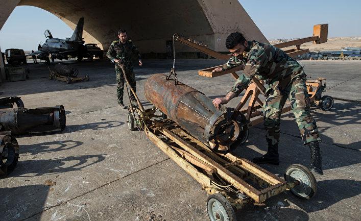 База ВВС сирийской армии в провинции Хомс