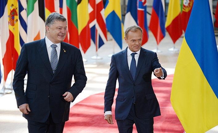 Президент Украины Петр Порошенко и председатель Европейского совета Дональд Туск