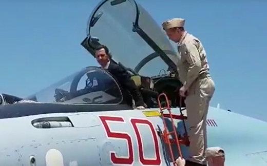 Асад в кабине Су-35