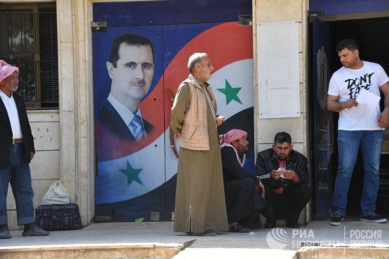 Сирийцы в аэропорту города Камышлы