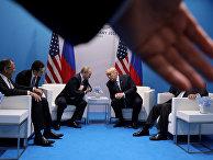 Президент РФ Владимир Путин и президент США Дональд Трамп