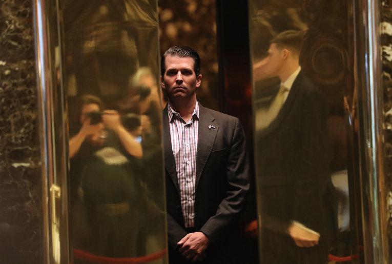 Дональд Трамп-младший в Trump Tower в Нью-Йорке