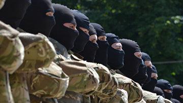 """Бойцы батальона """"Азов"""" приняли присягу в Киеве. 2014 год"""