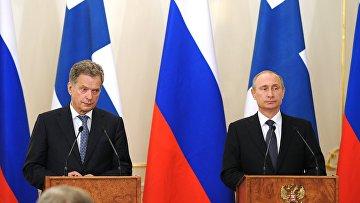 Президент РФ В.Путин встретился с президентом Финляндии С.Ниинистё