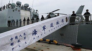 Отряд из трех кораблей ВМС Китая прибыл в Балтийск