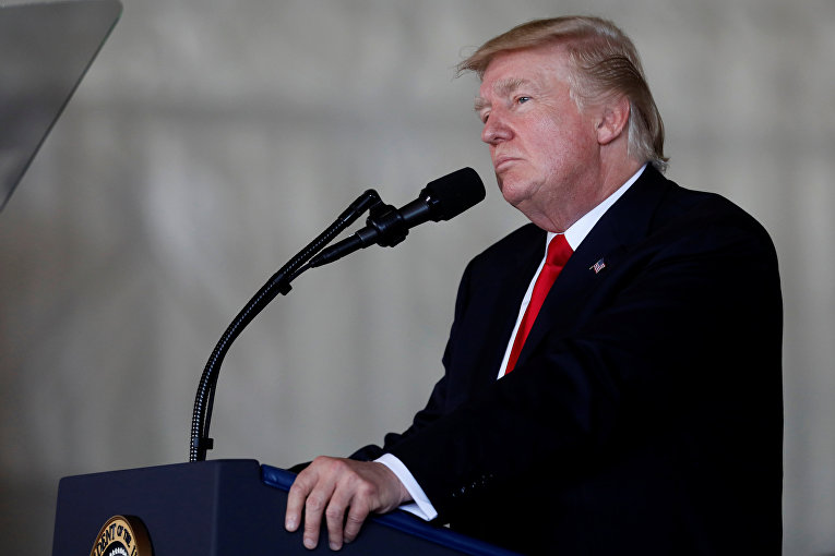 Президент США Дональд Трамп. 22 июля 2017