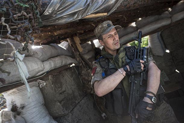 Украинский военный в селе Катериновка Луганской области