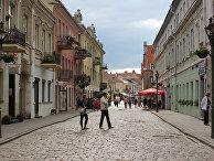 Улица в городе Каунас, Литва