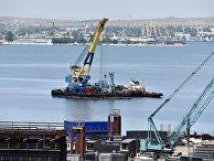 Завершена сборка железнодорожной арки Крымского моста