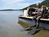 Президент РФ В. Путин провел отпуск в Республике Тыва