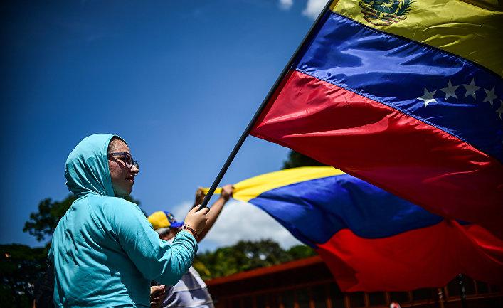 Митинг против президента Венесуэлы Николас Мадуро в Каракасе