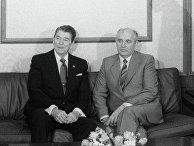 Горбачев и Рейган во время официального визита президента США в СССР