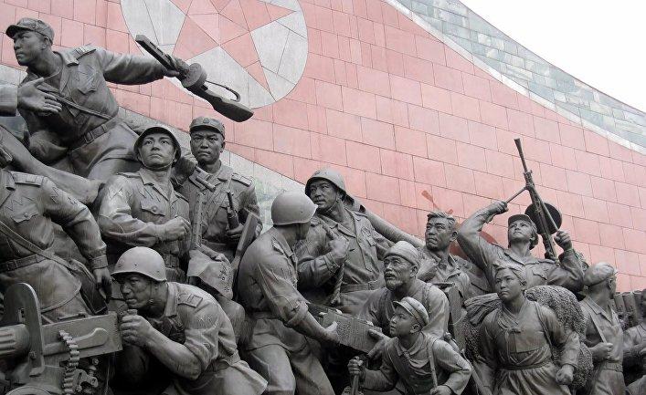 Скульптурная композиция, Пхеньян, Северная Корея