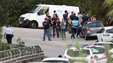 Место убийства испанскими полицейскими главного подозреваемого в теракте в Барселоне Юнеса Абуякуба