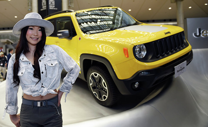 Jeep Renegade Trailhawk на 44-м автосалоне Tokyo Motor Show 2015 в Токио, Япония