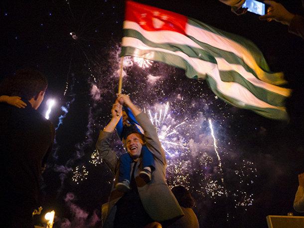 Празднование Дня победы в Абхазии