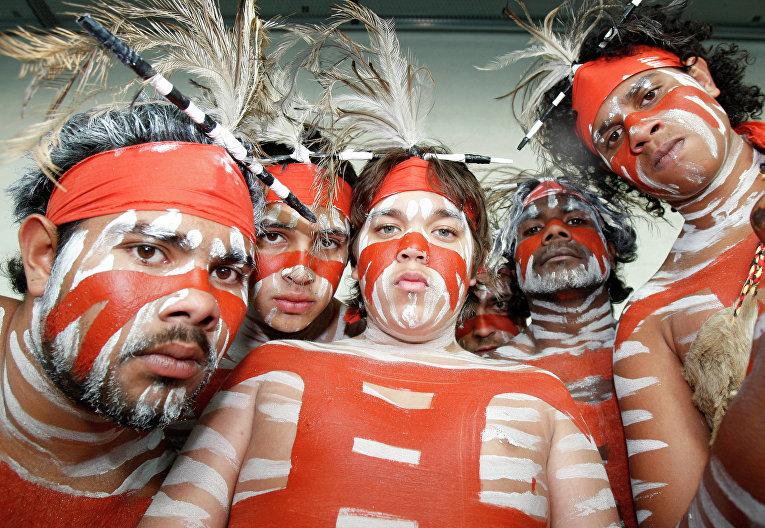 Австралийские аборигены. Брисбан, Австралия