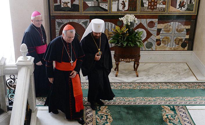 Встреча патриарха Кирилла с госсекретарем Ватикана П. Паролином