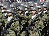 Солдаты сил самообороны Японии