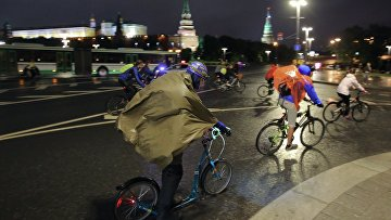 Третий ночной велопарад в Москве