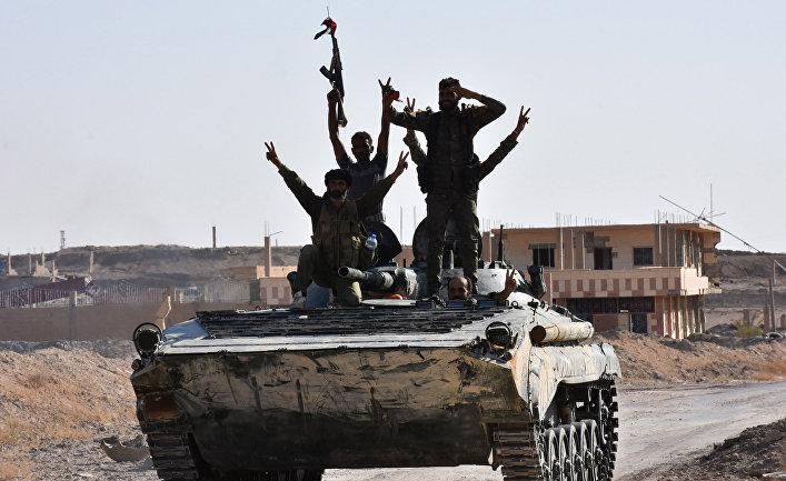 Сирийская армия в Дейр-эз-Зоре