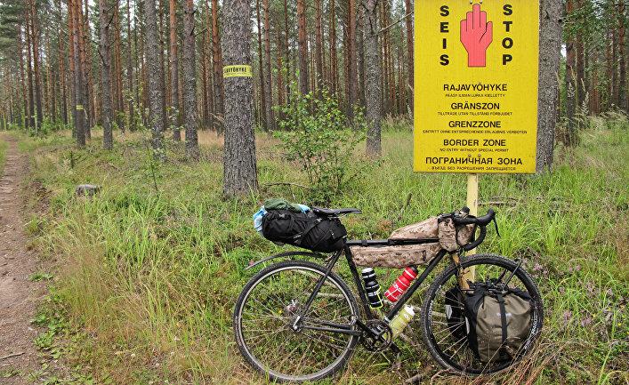 Финско-российская граница неподалеку от населенного пункта Вайниккала