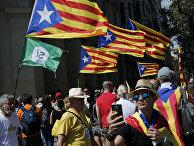 Празднование Национального дня Каталонии в Барселоне