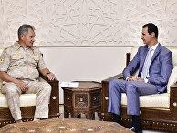 Министр обороны РФ С.Шойгу провел переговоры с президентом Сирии Б.Асадом в Дамаске
