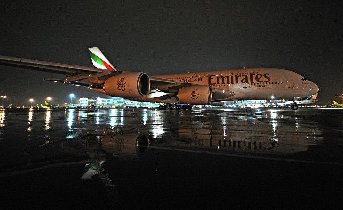 """Прилет Airbus A380 в аэропорт """"Домодедово"""""""