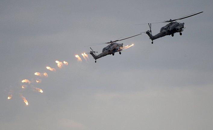 """Вертолеты Ка-52 ВКС России во время учений """"Запад-2017"""""""