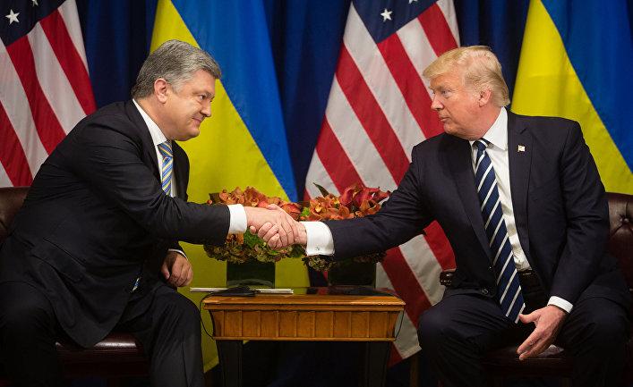 Встреча президента США Д.Трампа и президента Украины П.Порошенко