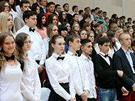 Студенты на мероприятии в Москве. Архивное фото