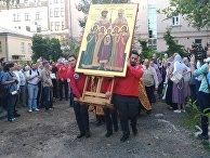 """Крестный ход перед молитвенным стоянием против """"Матильды"""" в Москве"""