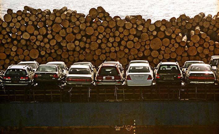 В морском торговом порту города Корсакова. Сахалинская область