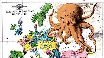 Карта Европы 1877 года