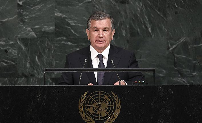 Президент Узбекистана Шавкат Мирзиев на 72-й сессии Генеральной Ассамблеи ООН в штаб-квартире ООН в Нью-Йорке