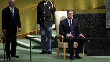 Президент Сербии Александар Вучич на 72-й сессии Генеральной ассамблеи Организации Объединенных Наций