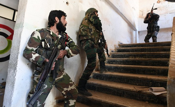 Новобранцы республиканской гвардии в сирийском городе Дейр-эз-Зор