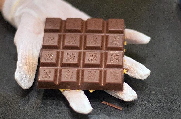 Шоколад Ritter Sport в магазине в Берлине
