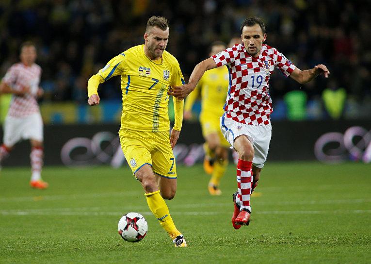 Квалификационный матч ЧМ по футболу 2018 Украина - Хорватия