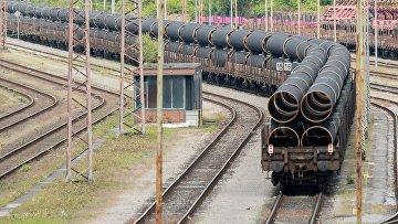 Ежедневная доставка труб для «Северного потока - 2» из Мюльхайма в Мукран