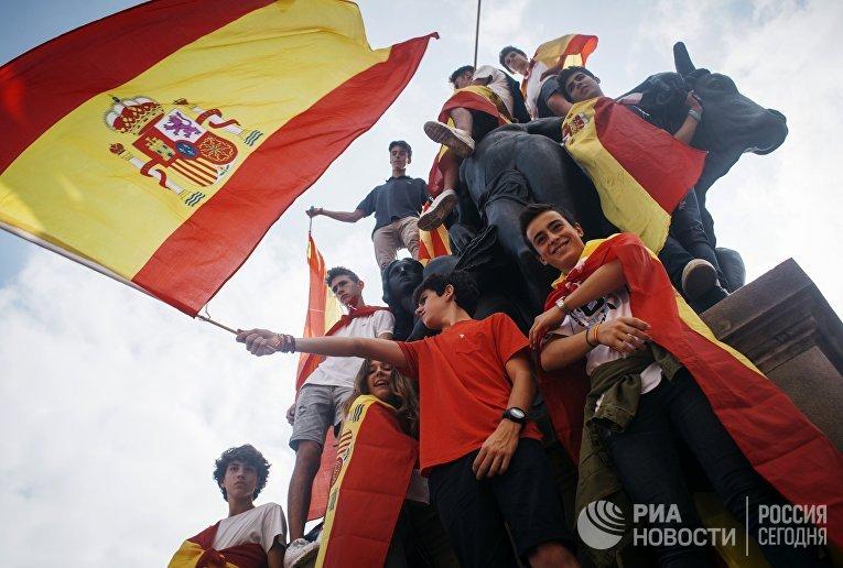 Акция в поддержку единства Испании в Барселоне